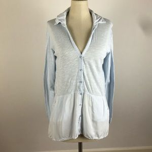 Anthropologie Left for Center Button Down Top